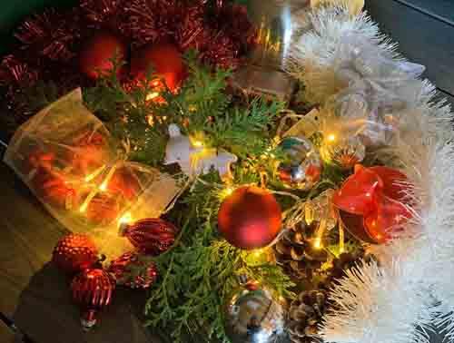 Knutsel je Kerststukje Online Workshop 22 december 2020